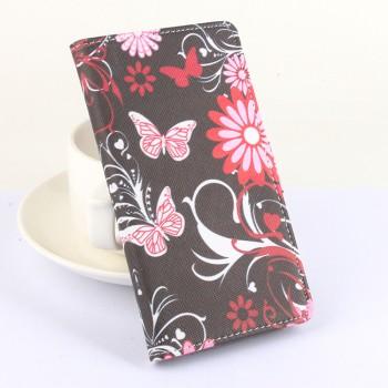 Дизайнерский чехол портмоне подставка на клеевой основе с полноповерхностным принтом и застежкой с отделением для карт для Doogee X6