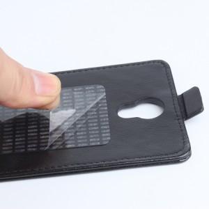 Глянцевый чехол вертикальная книжка на клеевой основе с магнитной застежкой для Doogee X6