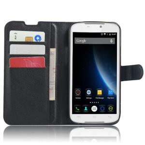 Чехол портмоне подставка с защелкой для Doogee X6 Черный