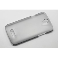Пластиковый матовый полупрозрачный чехол для Doogee X6