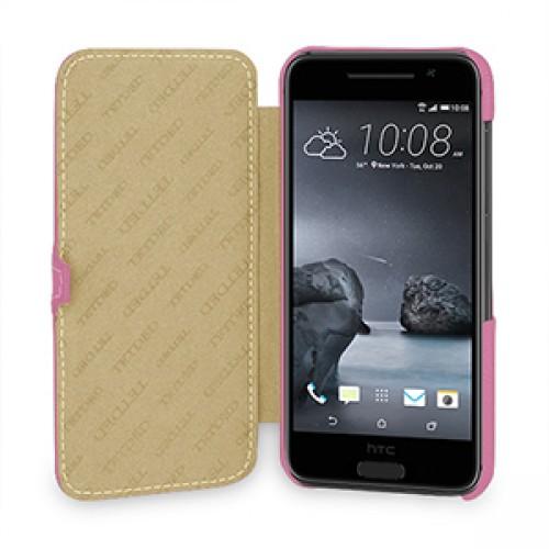 Кожаный чехол горизонтальная книжка (нат. кожа) с крепежной застежкой для HTC One A9