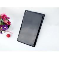Силиконовый глянцевый непрозрачный чехол для ASUS ZenPad 8 Черный