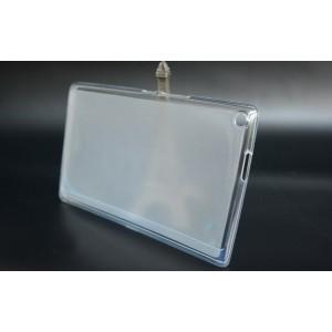 Силиконовый полупрозрачный чехол для ASUS ZenPad 8 Белый