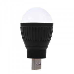Экстрапортативная USB 2.0 LED-лампа формат Лампочка Черный
