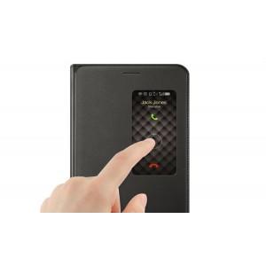 Оригинальный кожаный чехол подставка на пластиковой основе с окном вызова для Huawei MediaPad X2 Черный