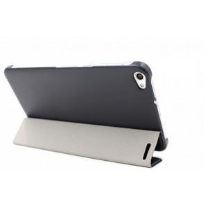 Чехол подставка сегментарный на поликарбонатной основе для Huawei MediaPad X2 Черный