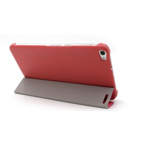 Чехол подставка сегментарный на поликарбонатной основе для Huawei MediaPad X2 Красный
