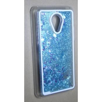 Пластиковый матовый полупрозрачный чехол с внутренней аква аппликацией для Meizu MX4 Pro