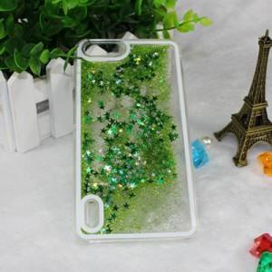 Пластиковый матовый полупрозрачный чехол с внутренней аква аппликацией для Huawei Honor 6 Plus