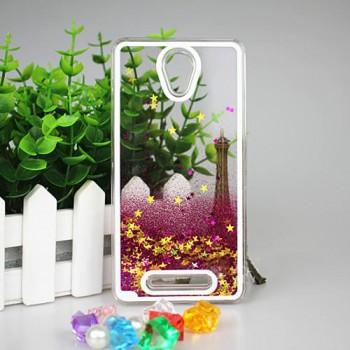 Пластиковый матовый полупрозрачный чехол с внутренней аква аппликацией для Xiaomi RedMi Note 2