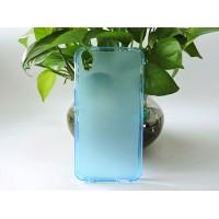Силиконовый матовый полупрозрачный чехол для Alcatel Idol 4/BlackBerry DTEK50 Голубой