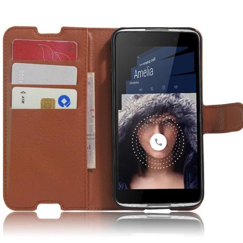 Чехол портмоне подставка с защелкой для Alcatel Idol 4/BlackBerry DTEK50 Черный