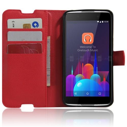 Чехол портмоне подставка с защелкой для Alcatel Idol 4S
