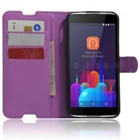 Чехол портмоне подставка с защелкой для Alcatel Idol 4S Фиолетовый