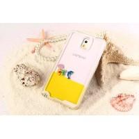 Пластиковый матовый полупрозрачный чехол с внутренней аква аппликацией для Samsung Galaxy Note 4 Желтый