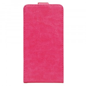 Чехол вертикальная книжка на клеевой основе с магнитной застежкой для Doogee T6 Розовый