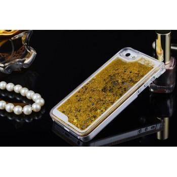 Пластиковый матовый полупрозрачный чехол с внутренней аква аппликацией для Iphone 5s/5/SE