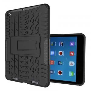Двухкомпонентный силиконовый чехол с пластиковым бампером и подставкой для Xiaomi Mi Pad 2/MiPad 3 Черный