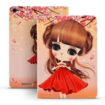Дизайнерский чехол подставка с полноповерхностным принтом для Xiaomi Mi Pad 2