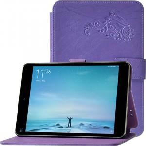 Текстурный чехол подставка на пластиковой основе для Xiaomi Mi Pad 2/MiPad 3 Фиолетовый