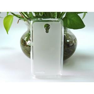 Силиконовый матовый полупрозрачный чехол для Alcatel One Touch Pixi 4 (3.5) Белый