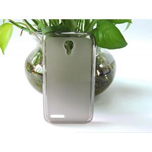 Силиконовый матовый полупрозрачный чехол для Alcatel One Touch Pixi 4 (3.5) Серый