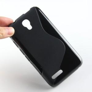 Силиконовый S чехол для Alcatel One Touch Pixi 4 (3.5) Черный