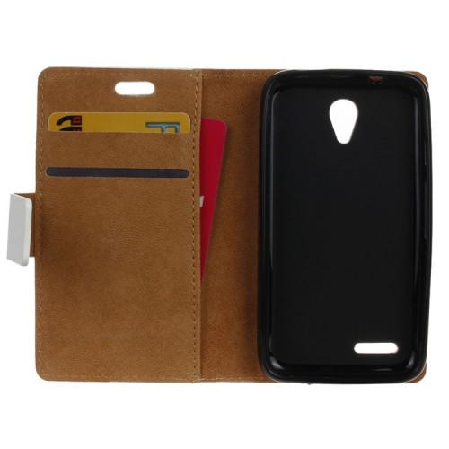 Дизайнерский чехол портмоне подставка с полноповерхностным принтом и застежкой для Alcatel One Touch Pixi 4 (3.5)