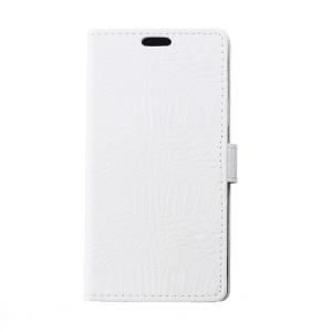 Чехол портмоне подставка с защелкой текстура Крокодил для Alcatel One Touch Pixi 4 (3.5)