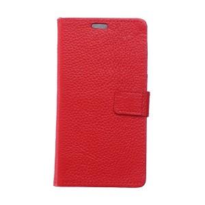 Чехол портмоне подставка с защелкой для Alcatel One Touch Pixi 4 (3.5) Красный