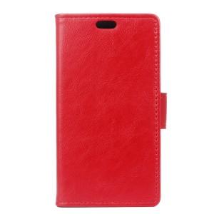 Вощеный чехол портмоне подставка с защелкой для Alcatel One Touch Pixi 4 (3.5) Красный