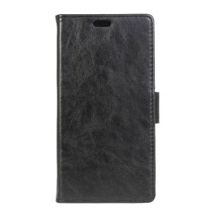Вощеный чехол портмоне подставка с защелкой для Alcatel One Touch Pixi 4 (3.5) Черный