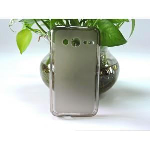 Силиконовый матовый полупрозрачный чехол для Alcatel One Touch Pixi 4 (4) Серый