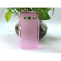 Силиконовый матовый полупрозрачный чехол для Alcatel One Touch Pixi 4 (4) Розовый