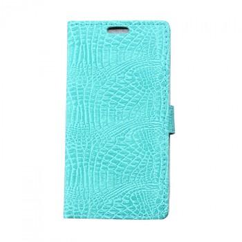 Чехол портмоне подставка с защелкой текстура Крокодил для Alcatel One Touch Pixi 4 (4)