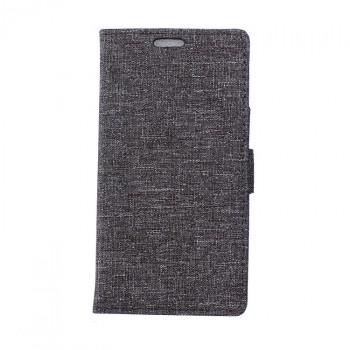 Чехол портмоне подставка с защелкой и тканевым покрытием для Alcatel One Touch Pixi 4 (4)