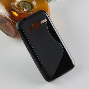 Силиконовый S чехол для Alcatel One Touch Pixi 4 (4) Черный