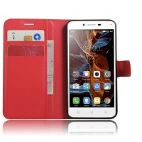 Чехол портмоне подставка с защелкой для Lenovo Vibe K5 Красный