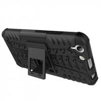 Двухкомпонентный силиконовый чехол с пластиковым бампером и подставкой для Lenovo Vibe K5 Черный