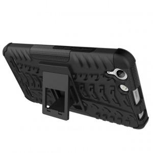Двухкомпонентный силиконовый чехол с пластиковым бампером и подставкой для Lenovo Vibe K5