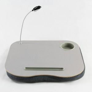 Портативный эргономичный стол для гаджетов с LED-лампой и отделением для стакана и ручки