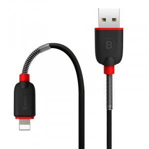 Кабель USB 2.0-Lightning 2А 1m с пружинными усилителями