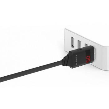 Смарт кабель USB 3.0-USB-Micro 1m с LCD-дисплеем для показа времени зарядки, тока и напряжения