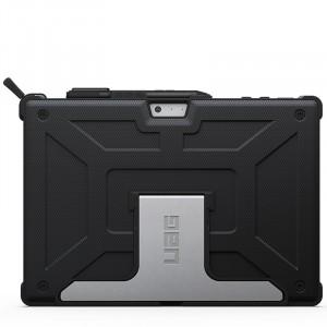 Противоударный гибридный чехол силикон/поликарбонат со встроенной подставкой для Microsoft Surface Pro 4 Черный