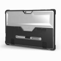 Ультразащитный антиударный гибридный полупрозрачный чехол силикон/поликарбонат со встроенной подставкой и нишей для стилуса для Microsoft Surface Pro 4