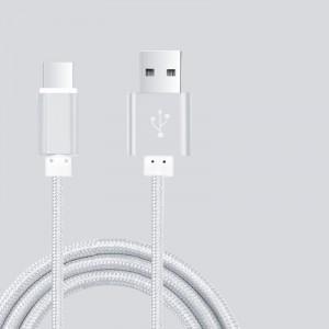 Кабель USB 3.0 type A-USB 3.0 type C в тканевой оплетке с алюминиевыми разъемами 1.5м Серый