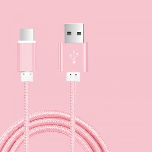 Кабель USB 3.0 type A-USB 3.0 type C в тканевой оплетке с алюминиевыми разъемами 1.5м Розовый