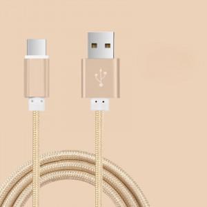 Кабель USB 3.0 type A-USB 3.0 type C в тканевой оплетке с алюминиевыми разъемами 1.5м Бежевый