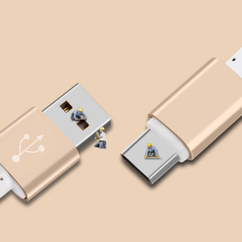 Кабель USB 3.0 type A-USB 3.0 type C в тканевой оплетке с алюминиевыми разъемами 1.5м