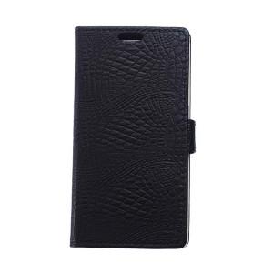 Чехол портмоне подставка с защелкой текстура Крокодил для LG K5